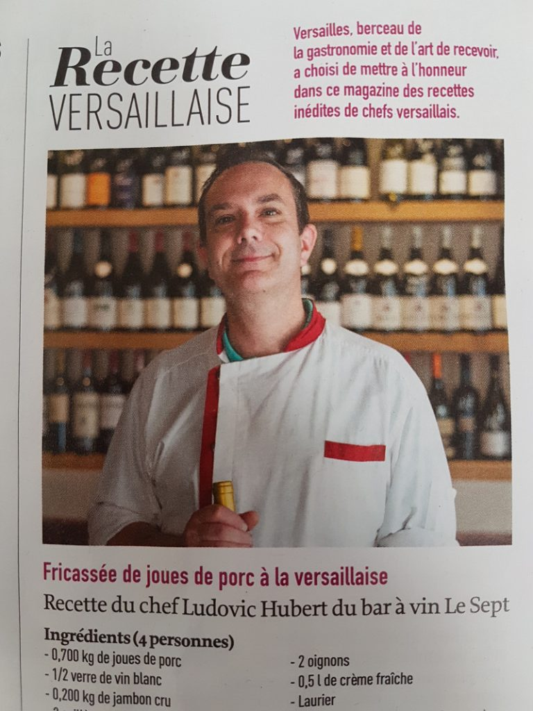 "Ludovic Hubert, chef du restaurant ""Le Sept"" à versailles"
